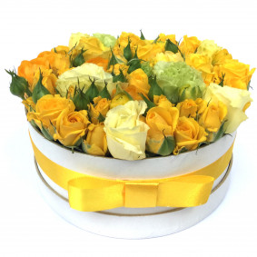 Yellow Round Flower Box