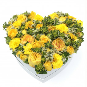 Yellow Heart Flower Box