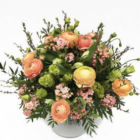 Peach Pink Seasonal Bouquet