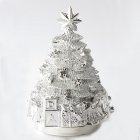 Silver Plated Musical Christmas Tree