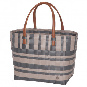 LUMBERJACK SHOPPER BAG - grey/beige