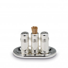 Salt and Pepper Set - silver plated