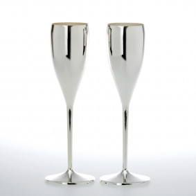 Silver plated champagne glass
