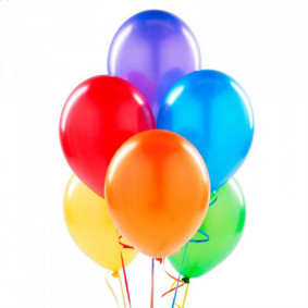 Balloons in mixed colors