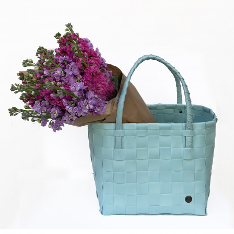 Paris Shopper bag with a bunch of seasonal flowers